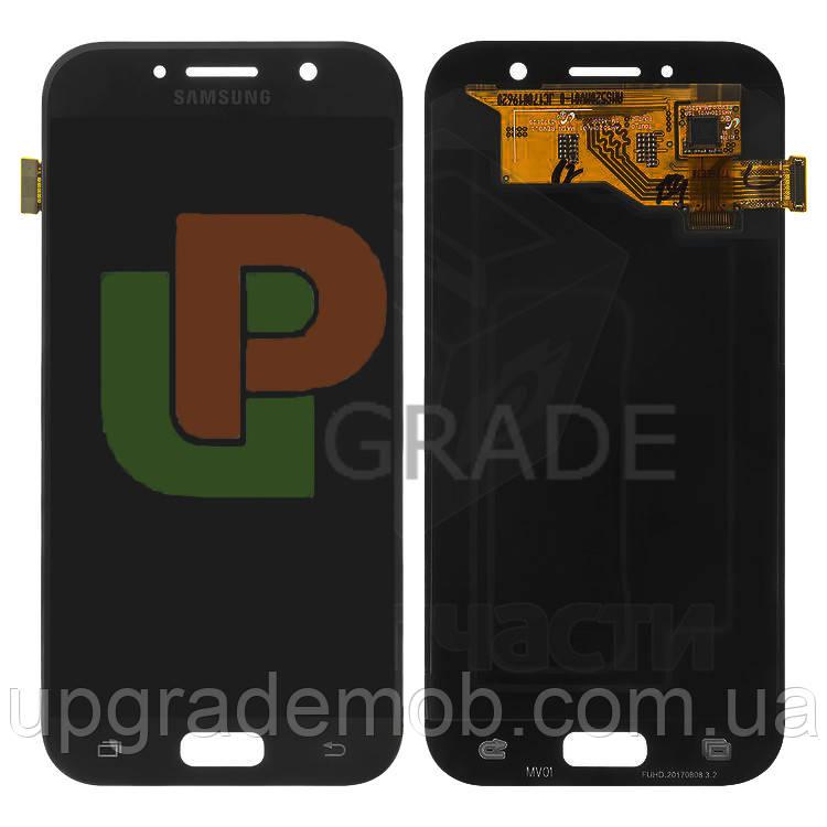 Дисплей Samsung A520F Galaxy A5 2017 с тачскрином модуль сенсор, черный, Black Sky, OLED, копия хорошего