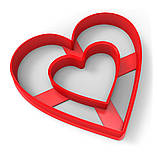 Вирубка для пряників Серце-2 7,5*7 см (3D), фото 2