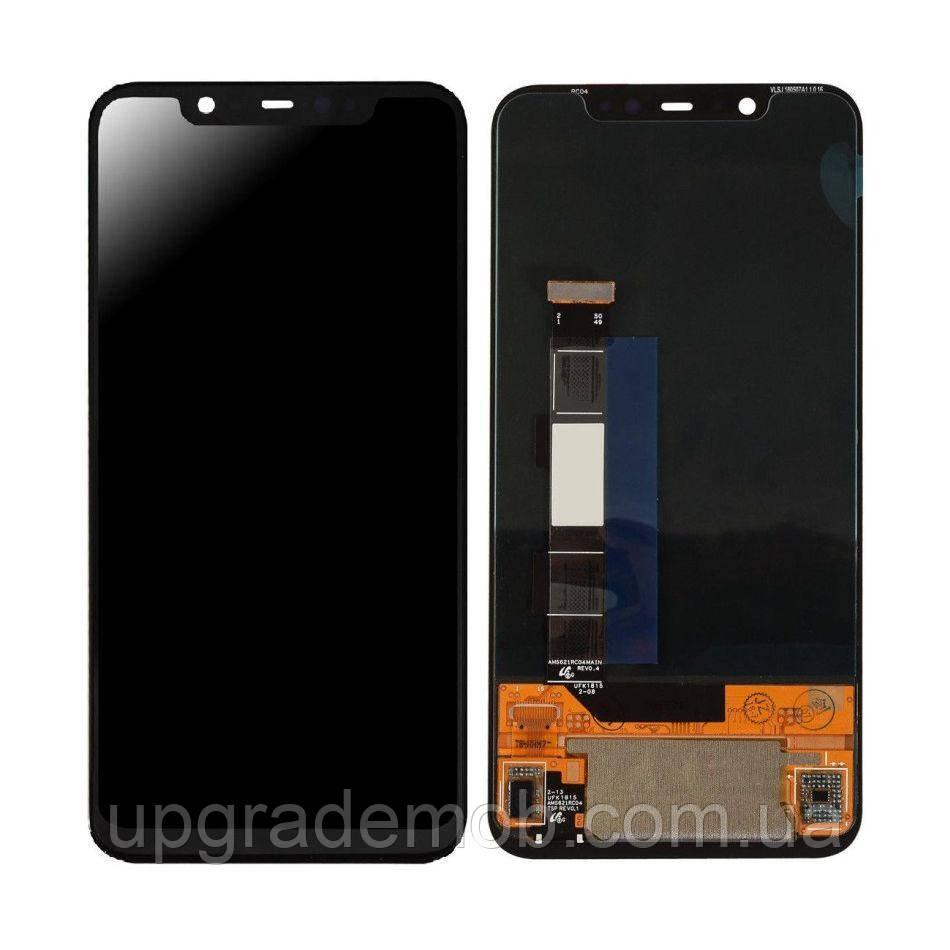 Дисплей Xiaomi Mi8 с тачскрином модуль сенсор, черный, OLED, копия хорошего качества
