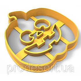 Вирубка для пряників Хелловін - Гарбуз 7*6,5 см (3D)