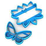 Набір вирубок для пряників Метелик 12*13см на Листочку 6*9,7 см (3D), фото 2