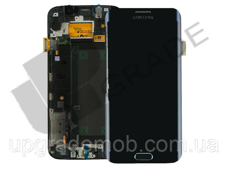 Дисплей Samsung G925F Galaxy S6 Edge тачскрин модуль синий Black Sapphire OLED хорошего качества