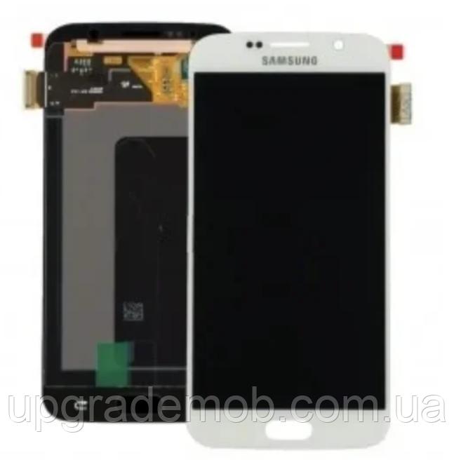 Дисплей Samsung G930F Galaxy S7/G930FD с тачскрином модуль сенсор, белый, OLED, копия хорошего качества