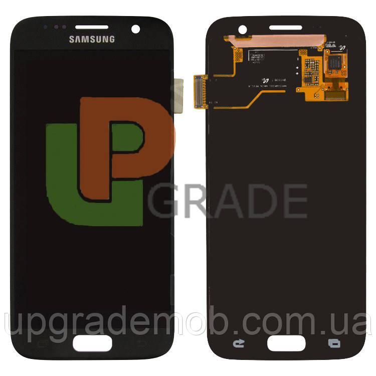 Дисплей Samsung G930F Galaxy S7/G930FD тачскрин модуль черный OLED хорошего качества