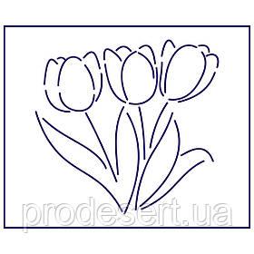 Трафарет Букет тюльпанов 10*10.5 см (TR-1)