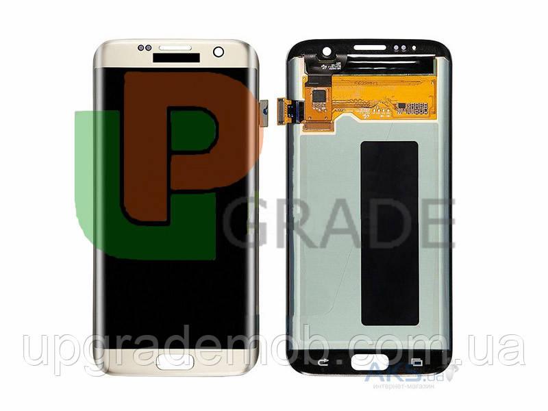 Дисплей Samsung G935F Galaxy S7 Edge с тачскрином модуль сенсор, белый, Amoled, оригинал