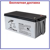 Аккумулятор Carbon Ritar 200Ач DС12 - 200С 12V 200Ah, фото 1
