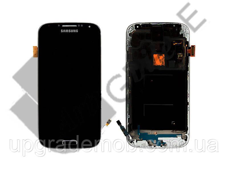 Дисплей Samsung i9500 Galaxy S4 с тачскрином модуль сенсор, черный, Black Edition, в рамке, Amolede, оригинал