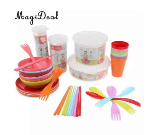 Набір посуду для туризму MagiDeal 34 шт