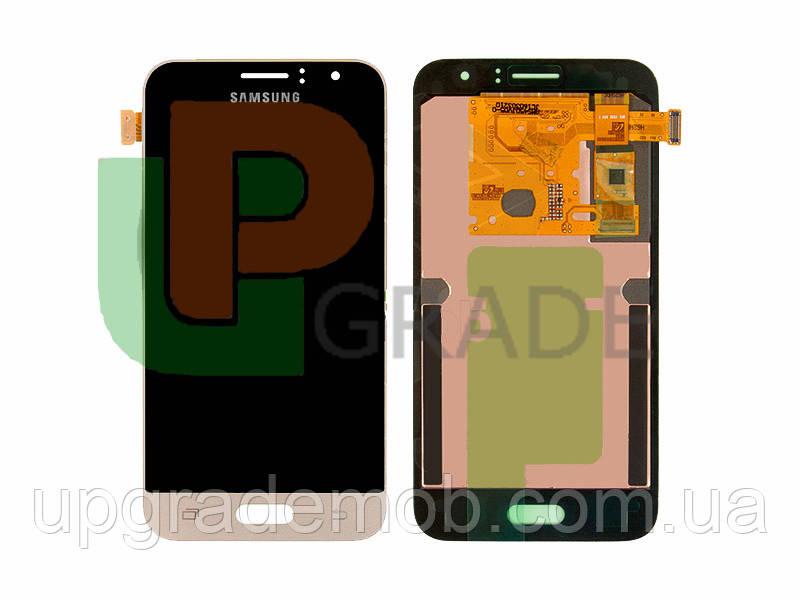 Дисплей Samsung J120H Galaxy J1 2016/J120F с тачскрином модуль сенсор, золотистый, OLED, копия хорошего