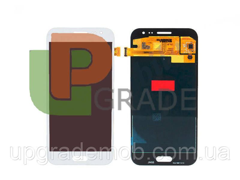 Дисплей Samsung J200H Galaxy J2/J200F с тачскрином модуль сенсор, белый, OLED, копия хорошего качества