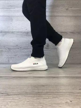 Мужские белые кроссовки Fila (Фила). Реплика. Кеды, мокасины спортивные.