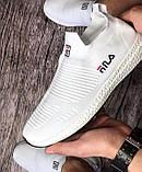 Мужские белые кроссовки Fila (Фила). Реплика. Кеды, мокасины спортивные., фото 6