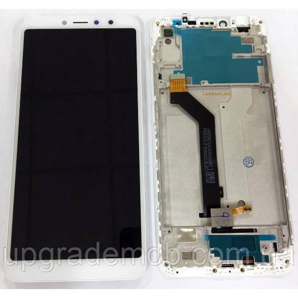 Дисплей Xiaomi Redmi S2/Redmi Y2 тачскрин сенсор, белый, в рамке