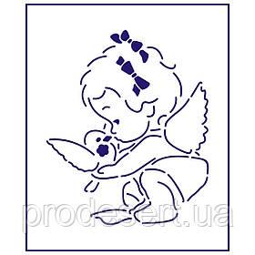 Трафарет Дівчинка-Ангелок 11*9 см (TR-1)