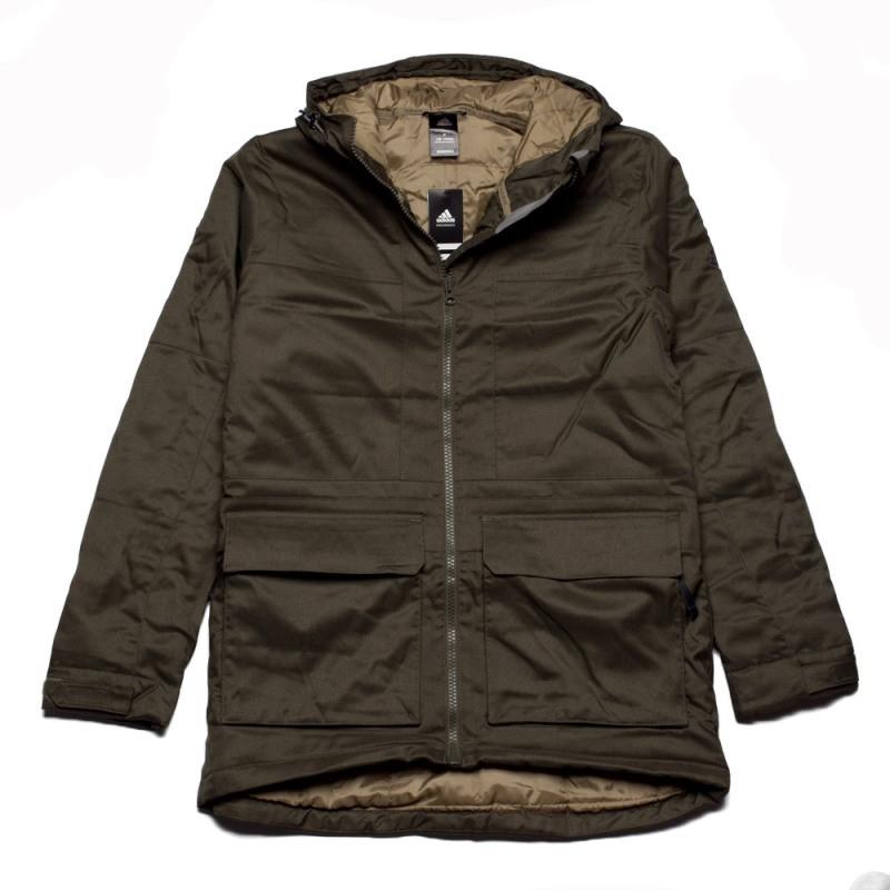 Куртка-парка спортивная adidas HT Trail Parka 2 F95302 (хаки, мужская, зима, -20, синтепон, адидас)