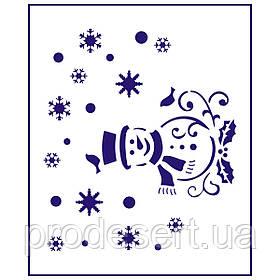 Трафарет Сніговик 11.5*10 см (TR-1)