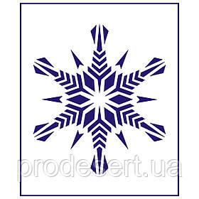 Трафарет Сніжинка більша 8 11см (TR-1)