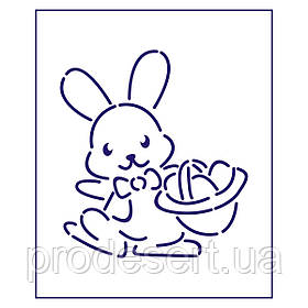 Трафарет Пасхальный кролик 1 10*9 см (TR-1)