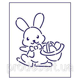 Трафарет Великодній кролик 1 10*9 см (TR-1)