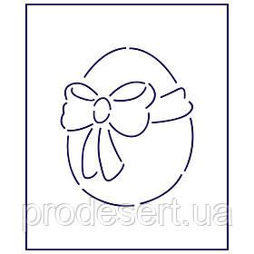 Трафарет Яйцо с бантиком 9*7.5 см (TR-1)