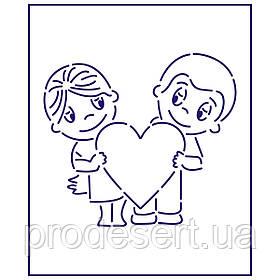 Трафарет Love is 9*10 см (TR-1)