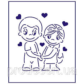 Трафарет Love is-2 10*9 см (TR-1)