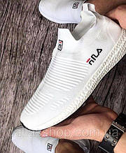 Мужские белые кроссовки Fila (Фила). Реплика. Кеды, мокасины спортивные. 43
