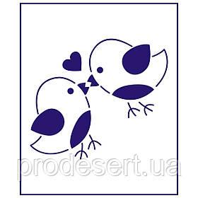 Трафарет Влюбленые пташки 9*10 см (TR-1)