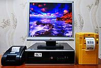 """Комплект Б/У Монитор HP 17""""+Б/У Системный блок HP Core i3 + Принтер этикеток + Принтер чеков, фото 1"""