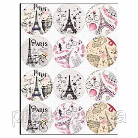 Париж 6,5 см вафельна картинка