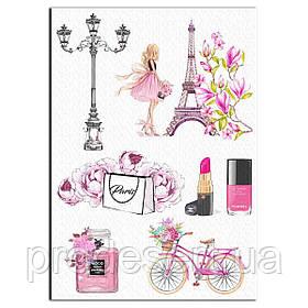 Париж Шанель вафельная картинка