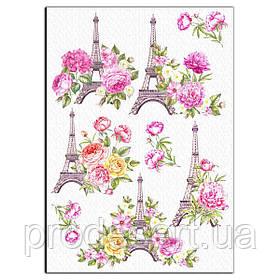 Эйфелева башня вафельная картинка