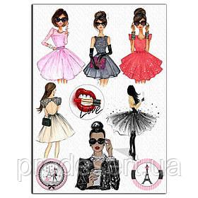 Fashion дівчата 12 см вафельна картинка