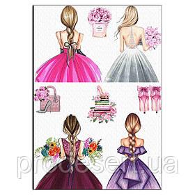 Дівчата вафельна картинка