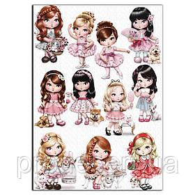 Милі дівчатка 1 вафельна картинка