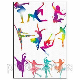 Силуети танцюристи 8-10 см вафельна картинка