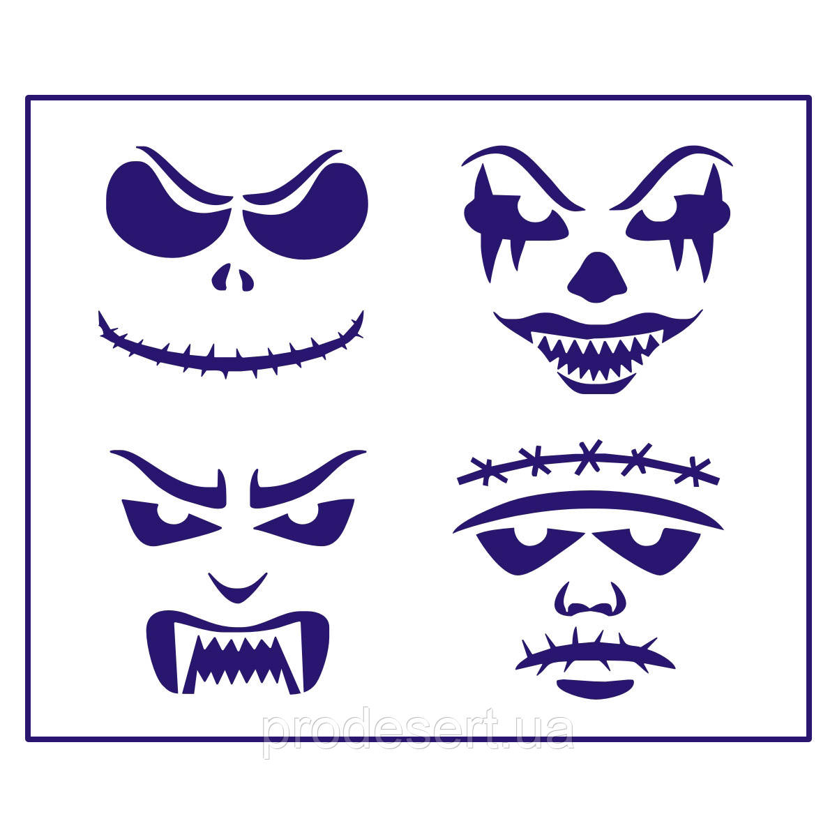 Трафарет маски Хелловін-1 10*11,5 см (TR-1)