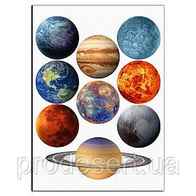 Планети вафельна картинка