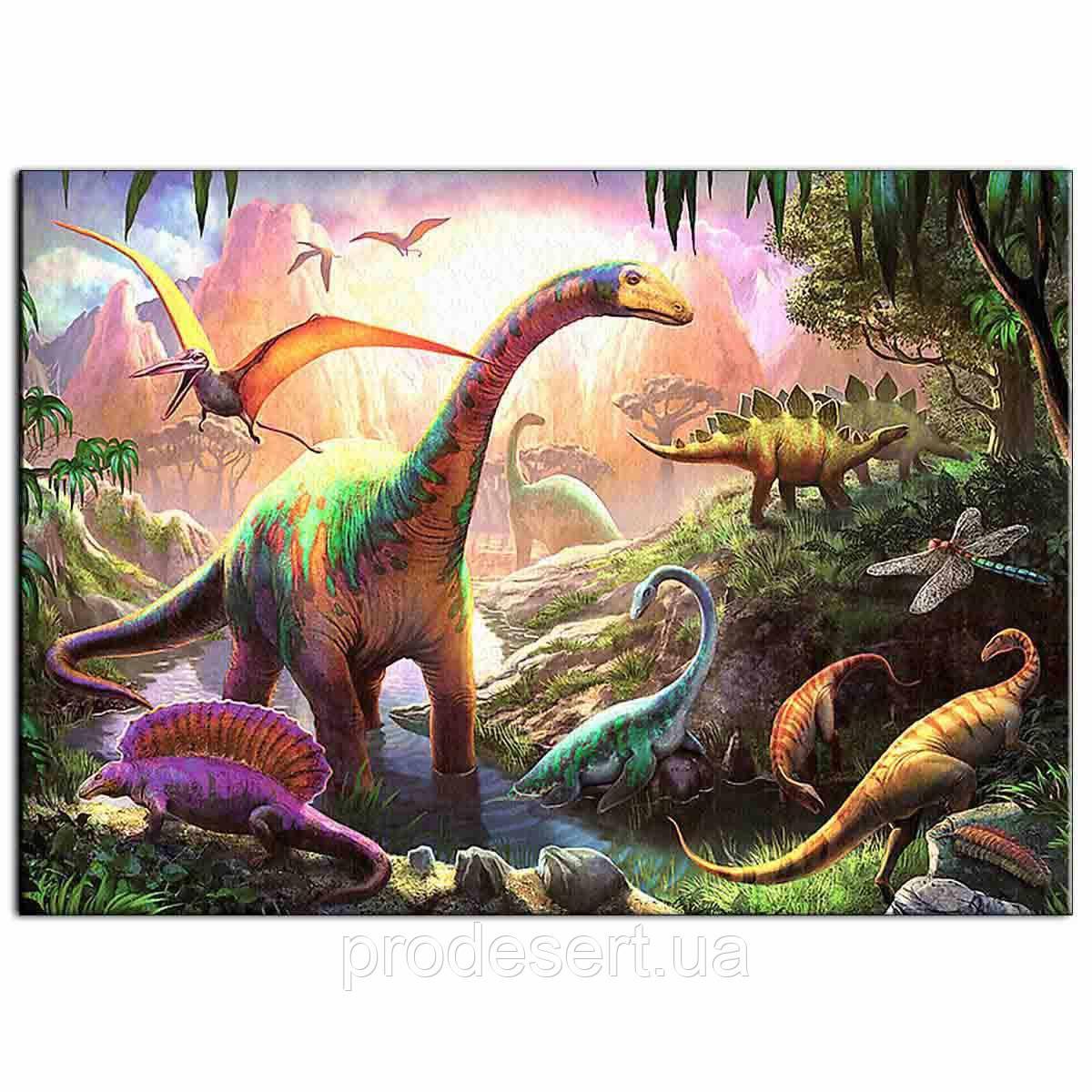 Динозавры 5 вафельная картинка