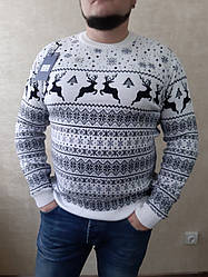 Чоловічий зимовий новорічний батальний светр