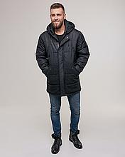 Теплая мужская куртка пуховик ZK-01 хаки короткий зима 2021