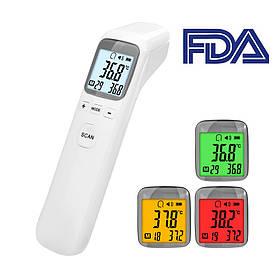 Бесконтактный инфракрасный термометр медицинский градусник SCT CK-T1502 для тела и поверхности + батарейки