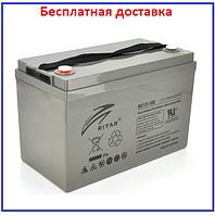 Аккумулятор AGM Ritar 100Ач  DC12-100 Gray Case 12V 100Ah, фото 1