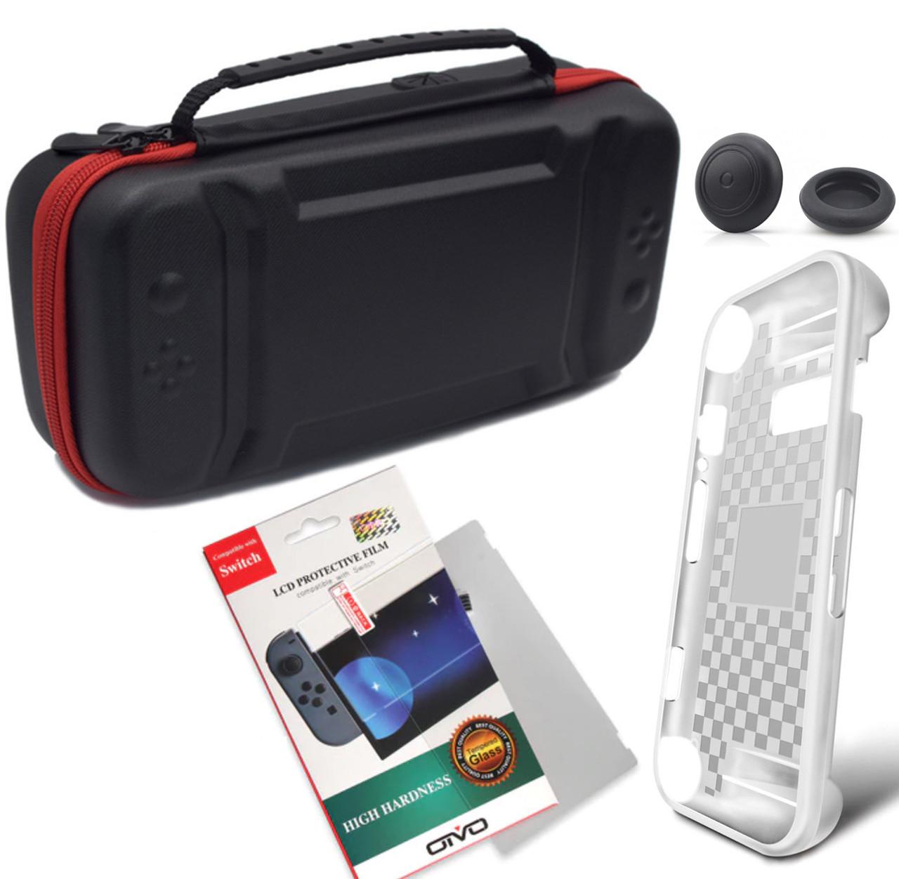 Комплект кейс EastVita + скло OIVO + чохол MIMD + накладки для Nintendo Switch
