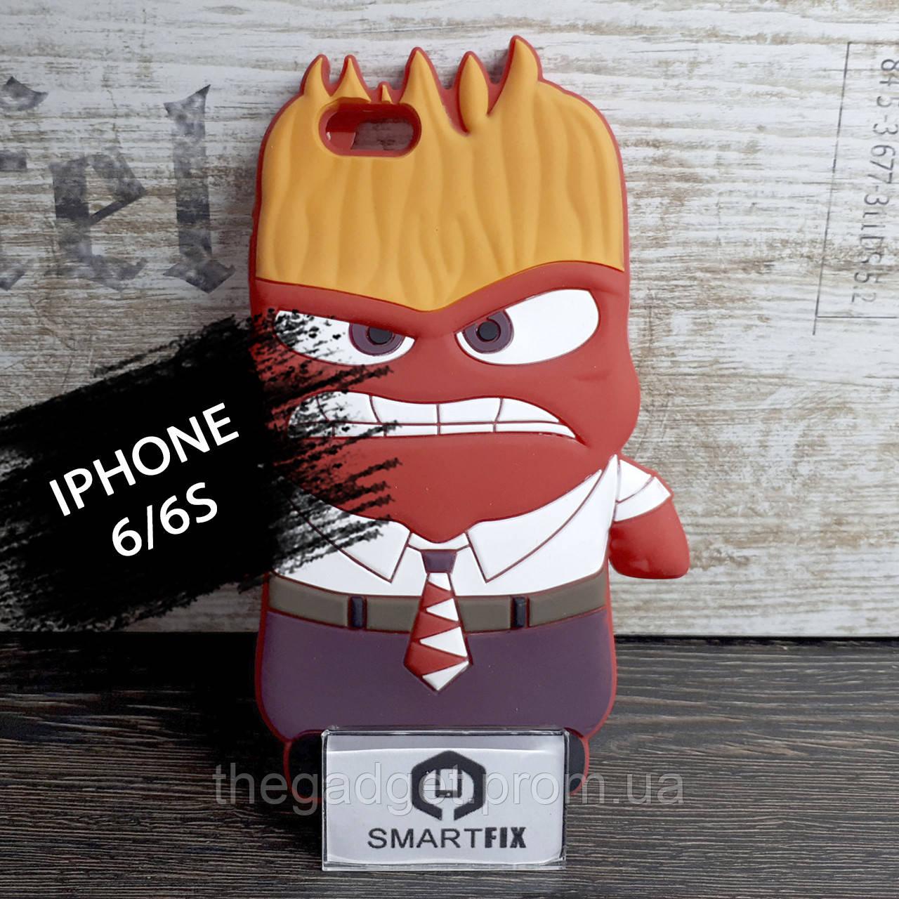 Силиконовый чехол с рисунком 3D для iPhone 6/6S (позиция №2)