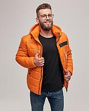 Теплая мужская куртка пуховик ZK-01 желтый короткий зима 2021