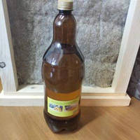 Олія для дерева льняна 2 л пляшка з воском для просочення дерева, фото 1