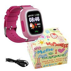 Детские Smart часы Q90, с GPS, pink, фото 3