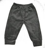 Теплые велюровые штаны на флисе размер: S